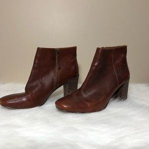Nine West Heeled Ankle Leather Boots Size 8